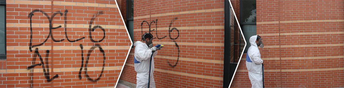 proceso deretirada de graffitis en valladolid